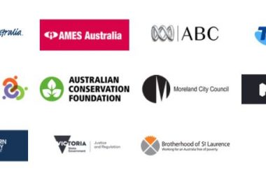 A group of logos from organisations who have worked with Groupwork Institute, including the ABC, Melbourne City Mission, local councils and state government departments